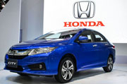 Honda City was shown today at the Bangkok International Motor Show 2014
