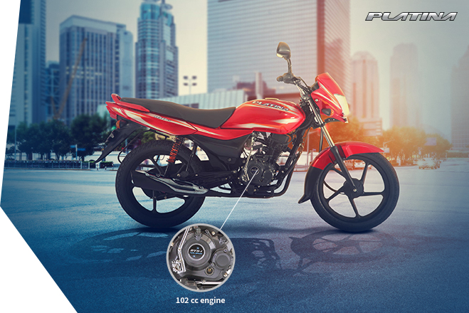 2017 Bajaj Platina ComforTec launch with LED DRL