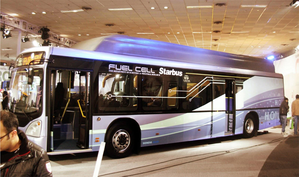 Tata Motors produced Hydrogen Fuel Cell Bus in India