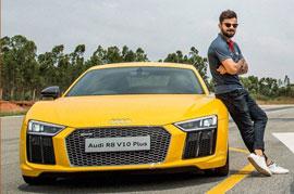 The all new Audi R8 V10 out now courtesy Virat Kohli