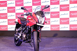 Bajaj Pulsar 200NS 2017 with a new body colour showcased in Turkey
