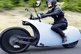 The pioneering technology of an electric motorbike