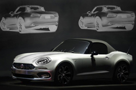 Fiat floats out teasers for the eminent 124 Spider Roadster
