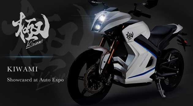 Terra Motors launched Kiwami electric superbike and coming at India Auto Expo 2014