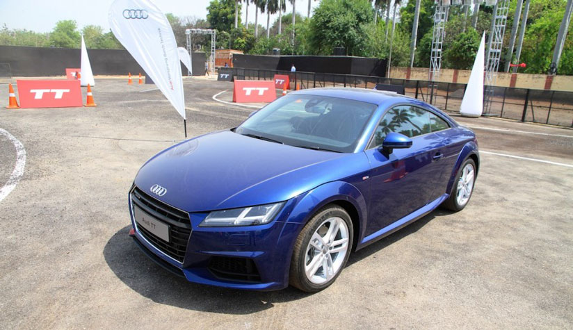 Audi TT roll out on the Indian roads  23rd April 2015