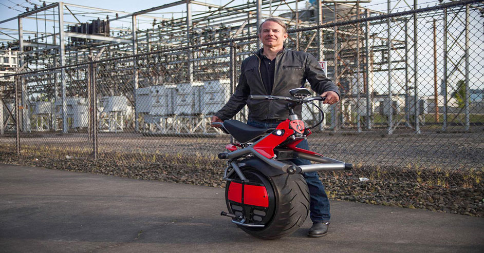 One wheeled Electric Motorbike