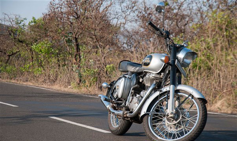 Royal Enfield Himalayan just around the corner