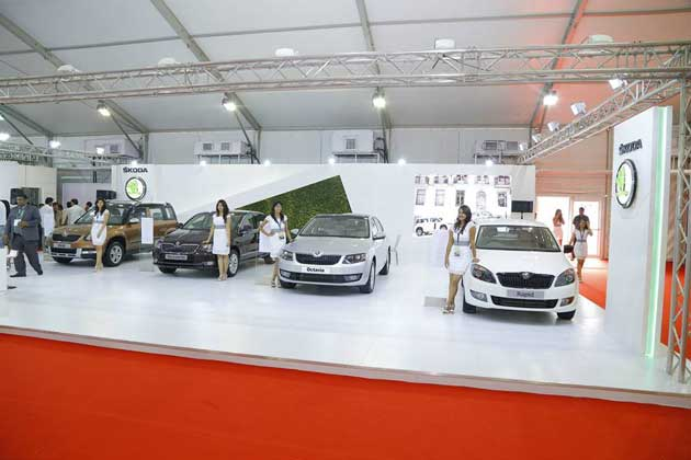 Skoda stall at the AutoCar Performance Show