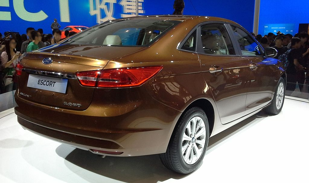 New compact Ford Escort saloon concept at Shanghai motor show 2013