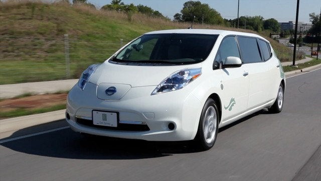 Nissan New York City Launch LEAF Electric Vehicle taxi Pilot