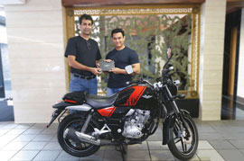 Amir Khan new found love Purchase the all new Bajaj V15
