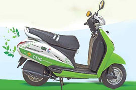 Now CNG on two wheels