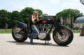 A closer look at the world largest Road Regal Motorbike