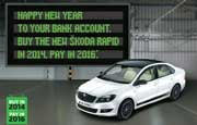 Skoda Rapid buy in 2014 pay in 2016 discount campaign