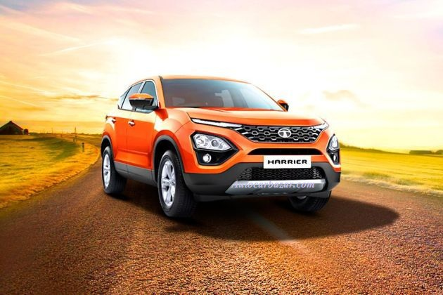 TATA HARRIER DUAL TONE PAINT SCHEME ON FLOOR SOON