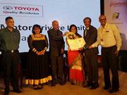 Toyota Motors gets the prestigious Golden Peacock Award